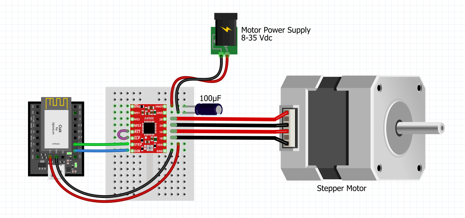 Oak tutorials stepper motor digistump wiki for How to test stepper motor